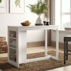 p/alcott-hill-glenside-counter-height-dining-table-wayfair - The world's most private search engine Counter Height Dining Table, Solid Wood Dining Table, Extendable Dining Table, Dining Table With Storage, Bar Counter, Counter Stool, Wood Storage Bench, Upholstered Storage Bench, Cubby Storage