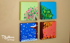 DIY four season hand and fingerprint tree is a keepsake craft and gift that kids can make. Learn how to make your own with the easy to follow tutorial!