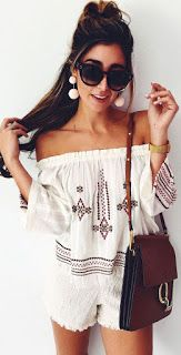 Topshop Bardot Embroidered Top Ivory Multi White Trending Summer Spring Fashion Outfit to Try This 2017 Great for Wedding,casual,Flowy,Black,Maxi,Idea,Party,Cocktail,Hippe,Fashion,Elegant,Chic,Bohemian,Hippie,Gypsy,Floral