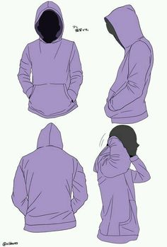 pixiv, hoodie reference, hood, clothing, hands in pockets Drawing Reference Poses, Design Reference, Drawing Tips, Drawing Sketches, Art Drawings, Cartoon Drawings, Poses References, Digital Art Tutorial, Drawing Base