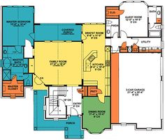 First Floor Plan of Tudor   Victorian   House Plan 99473