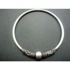 New Solid 999 Fine Silver 10mm Feather Flat Band Cuff Bangle 55-60mm Best Gift