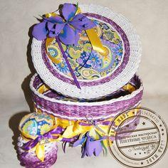 Плетёная шкатулка для рукоделия. https://vk.com/club129661311