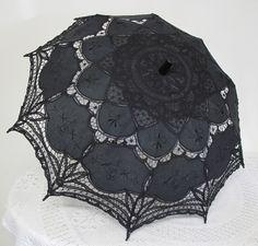 Ombrelle Gothique Sweet Lolita Victorien Dentelle