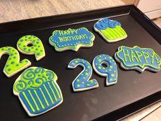 29th birthday cookies