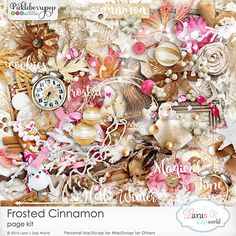 Frosted Cinnamon Page Kit By Lara's Digi World