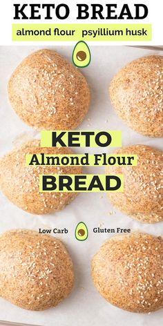 Ketogenic Recipes, Gluten Free Recipes, Low Carb Recipes, Comidas Light, Comida Keto, Diets For Beginners, Keto Bread, Keto Snacks, Low Carb Keto