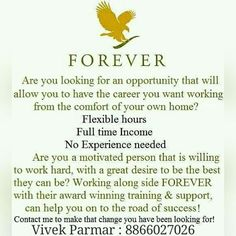 Forever Living is the world's largest grower, manufacturer and distributor of Aloe Vera. Discover Forever Living Products and learn more about becoming a forever business owner here. Forever Living Business, Forever Living Aloe Vera, Home Based Work, Forever Life, Health Programs, Forever Living Products, Work Life Balance, Business Motivation, Be Your Own Boss