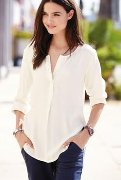 Buy Half Placket Top online today at Next: United States of America
