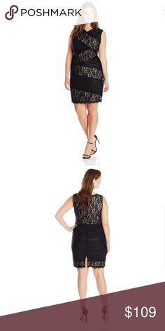 0323d3d0 Jax V-Neck Mixed Lace & Shutter Pleat Sheath Dress About this item Features  &