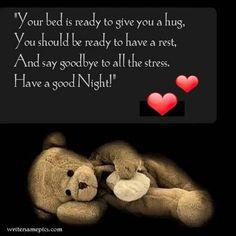 Good night honey I am sure you were enjoying the eve.