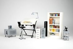 https://flic.kr/p/S8vTFX | Lego architect office - atana studio | ideas.lego.com/projects/168671 Lego architect office drawer table furnitures coffee light chair sit AFOL MOC creator ATANA studio Anthony SÉJOURNÉ
