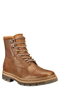 Men's Timberland Port Union Waterproof Cap Toe Boot, Size 15 W - Brown Timberland Heels, Timberland Outfits, Timberland Style, Timberland Fashion, Cowgirl Boots, Western Boots, Riding Boots, Combat Boots, Mens Smart Boots