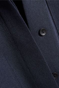 Victoria, Victoria Beckham - Belted Grosgrain-trimmed Twill Shirt Dress - Navy - UK12