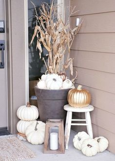 9 ways to Decorate with White Pumpkins | Boho Chic Cafe