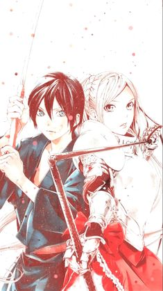 Yato and Veena Bishamonten Noragami, Anime Noragami, Manga Anime, Yato And Hiyori, Anime Expo, Anime Art, Anime Plus, Anime Kitten, Anime Girl Crying