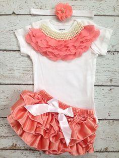 Vintage/Classy/Dark Peach/Light Coral/Royal Pearl by BabyTrendzz,