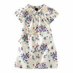 Field of Flowers Shirtdress | All the flowers on this girly print are constructed from geometric tile shapes.
