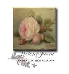 Just a simple rose - Original painting by Helen Flont