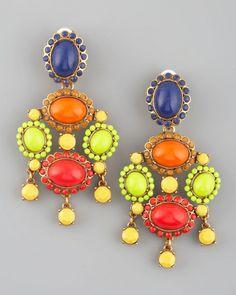 Multicolor Resin Earrings