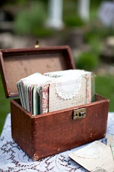 Vintage box for cards.