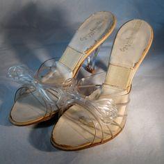 Vintage 1950s Springolator Wedding Shoes Carved por unionmadebride