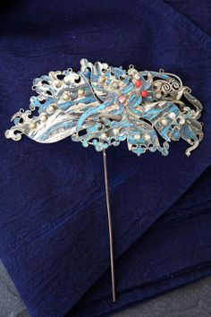 Haarnadel Hutnadel Haar Handarbeit Schmuck China Asiatika Diadem Eisvogel | eBay