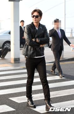 Park hae jin at the airport