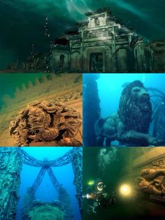 """Lost Underwater Lion City: Rediscovery of China's 'Atlantis' --- Qiandao Lake is a man-made lake located in Chun'an County, China, where archeologists have discovered in 2001 ruins of an underwater city. The city is at a depth of 26-40 meters and was named """"Lion City"""""""