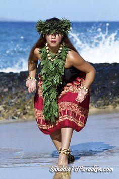 Hula by ocean