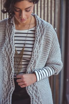 Rodin Cardigan Knitting Pattern from Interweave Knits Fall 2016 | Knitting Daily