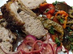 Rack of Lamb with Escalivada and Pickled Onions - World Food Tour