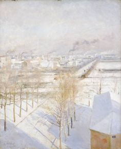 Albert Edelfelt: 'Snow on the Roofs', 1887