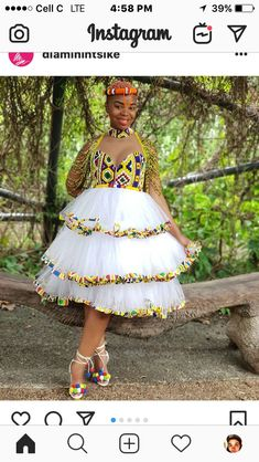 African Bridal Dress, African Wedding Attire, African Dresses For Women, African Attire, African Fashion Dresses, Tsonga Traditional Dresses, Traditional Outfits, African Print Fashion, Africa Fashion