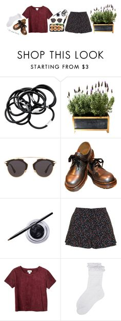 """""""V A L"""" by essentlai ❤ liked on Polyvore featuring H&M, Christian Dior, Maybelline, Topshop, Monki, Monsoon, Iman and vals1000simple"""