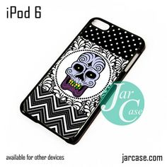 Floral Purple Jaw Skull iPod Case For iPod 5 and iPod 6