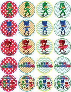 Instant Download PJ Masks cupcakes toppers PJ by alisprint