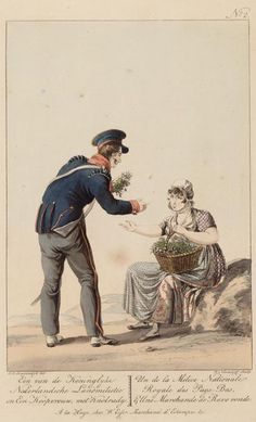 Flankeur of the National Guard and a Radish Seller