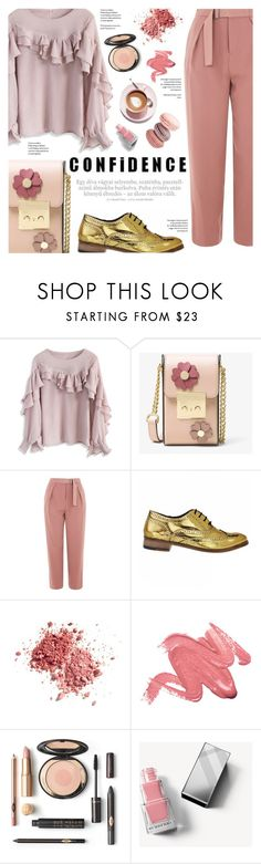 """""""confidence"""" by federica-m ❤ liked on Polyvore featuring Chicwish, MICHAEL Michael Kors, Topshop, Vince, Burberry, michaelkors, topshop, chicwish, brogues and lukegrantmuller"""