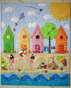 Beach House #quilt. could this get any more adorable?