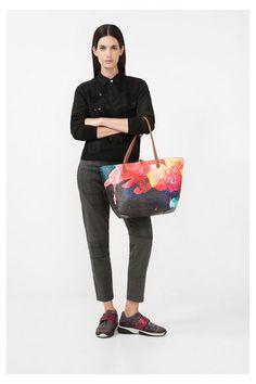 Printed shopper - Capri Aquarelle | Desigual.com