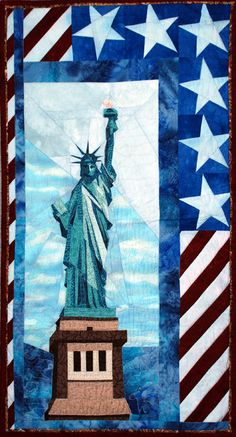 LADY LIBERTY quilt wall hanging by lindahibbert on Etsy
