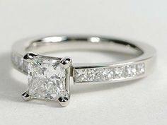 Diamond Engagement Ring Platinum Princess Cut 5