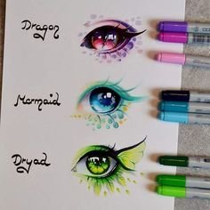 Ideas To Mythical Creatures Art For inspiration for dragons you'll be able to look at a myriad of creatures. Creating imaginary creatures isn't an easy job. To envision and paint cre… Realistic Eye Drawing, Drawing Eyes, Dragon Eye Drawing, Realistic Mermaid, Drawing Art, Figure Drawing, Marker Kunst, Marker Art, Art Anime