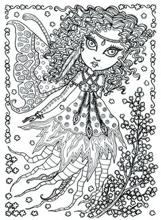 Poster Fairy Art Large 11 X 14 Size Coloring Page By ChubbyMermaid On Etsy
