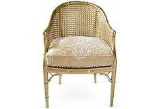 Gold Bamboo-Style Bucket Chair on OneKingsLane.com. A bit of glam goes a long way!