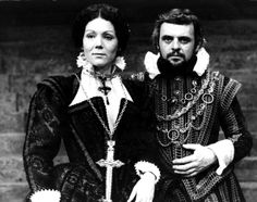 Anthony Hopkins as Macbeth and Diana Rigg as Lady Macbeth in a production of Shakespeare's 'Macbeth'. (1972)