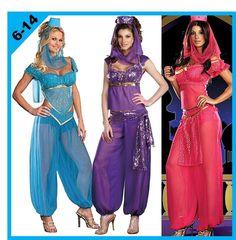So Princess Jasmine. Arabian Princess Costume, Adult Princess Costume, Princess Jasmine Costume, Arabian Costumes, Aladdin Musical, Genie Aladdin, Family Halloween Costumes, Adult Costumes, Costumes For Women