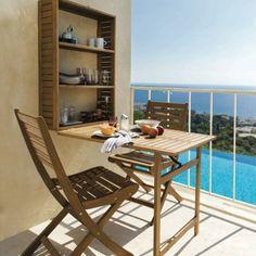 Voil un mobilier de balcon ultra pratique d di aux petits espaces il com - Table petits espaces ...