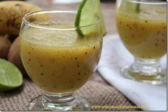 recette smoothie / banane-poire-kiwi